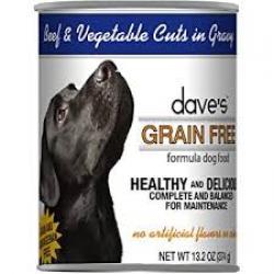 DAVES DOG GRAIN FREE BEEF & VEGGIE 13.2 oz CAN
