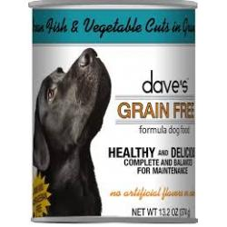 CASE DAVES DOG GRAIN FREE FISH & VEGGIE 13.2 oz CAN