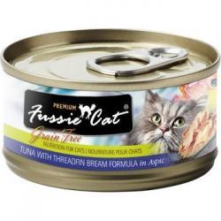 CASE FUSSIE CAT TUNA W/ THREADFIN BREAM IN ASPIC 2.82 OZ CASE OF 24 CANS