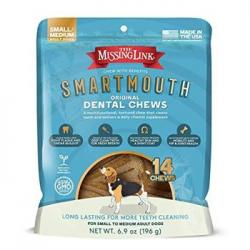Missing Link Smartmouth Dental Chew Petite XS Dog 28 Ct