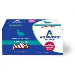 ANSWERS RAW DOG DETAILED DUCK PATTIES 4LB