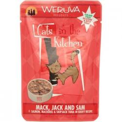 CASE OF 12 WERUVA CAT MACK, JACK & SALMON 3oz POUCH