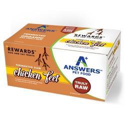 ANSWERS Rewards Fermented Raw Organic Chicken Feet 10CT