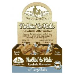 NOTHIN' TO HIDE RAWHIDE ALTERNATIVE BEEF ROLL LARGE INDIVIDUAL