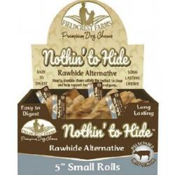 NOTHIN' TO HIDE RAWHIDE ALTERNATIVE BEEF ROLL SMALL INDIVIDUAL