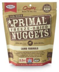 PRIMAL CANINE RAW FROZEN NUGGETS LAMB 5.5OZ