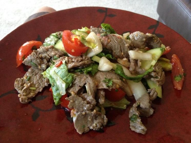 4535a1f7945cb3f9b9d0f4b54253a195 Recipe Thai Beef Salad, 'Yum Nuea' :: ImportFood