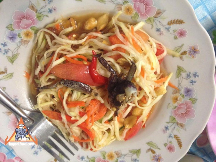 502bc6cf4d19764c4d752ecde38738cf Recipe Thai Green Papaya Salad, 'Som Tum' :: ImportFood