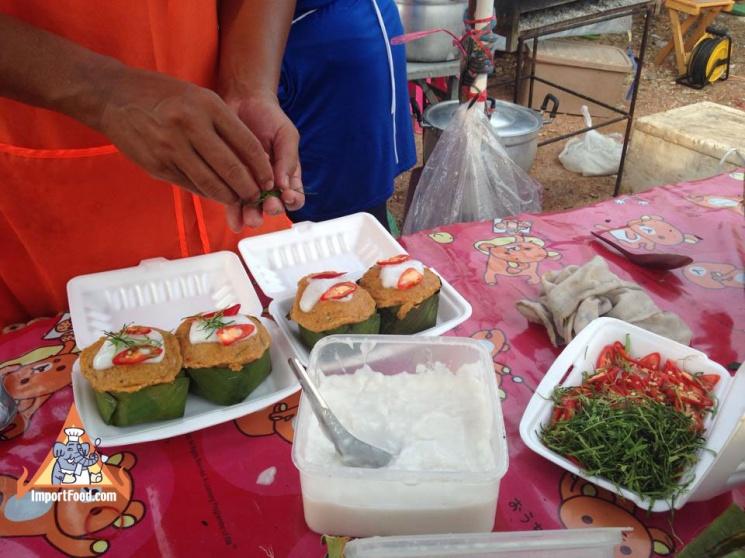 54e18a926a55fea124c39a9909354f0c Recipe Thai Fish Custard, 'Hor Mok' :: ImportFood