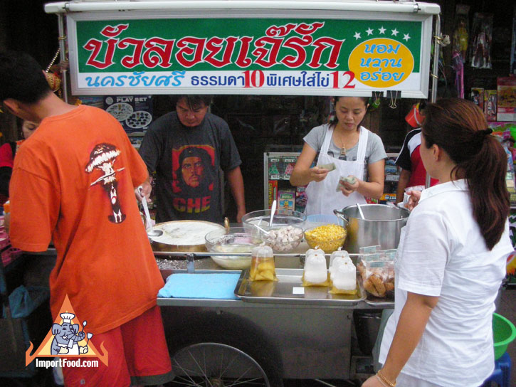 74185417c180af154a2bb13e04d7c5f9 Recipe Thai Rice Balls in Warm Coconut Milk, 'Bua Loi' :: ImportFood