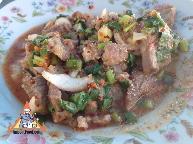 b33d364386840d2711dfe5c5e3129d85 Recipe Thai Spicy Ground Chicken and Toasted Rice, 'Larb Gai' :: ImportFood