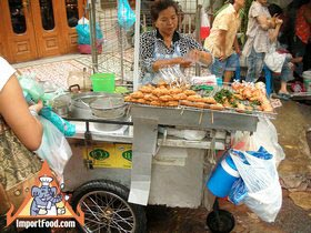 b8c78e3965e680d8df08d477af27c668 Recipe Thai-Style Toast, 'Khanom Bung Na Goong Roy Nga' :: ImportFood