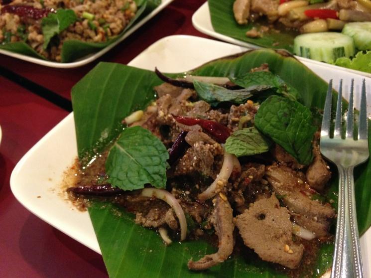 ca64ac49a186ae260c7decce01aeb1f0 Recipe Thai Spicy Ground Chicken and Toasted Rice, 'Larb Gai' :: ImportFood