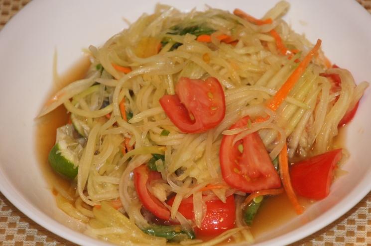 cc9ecd38fc8ae03b2c81f4ba8e8535df Recipe Thai Green Papaya Salad, 'Som Tum' :: ImportFood