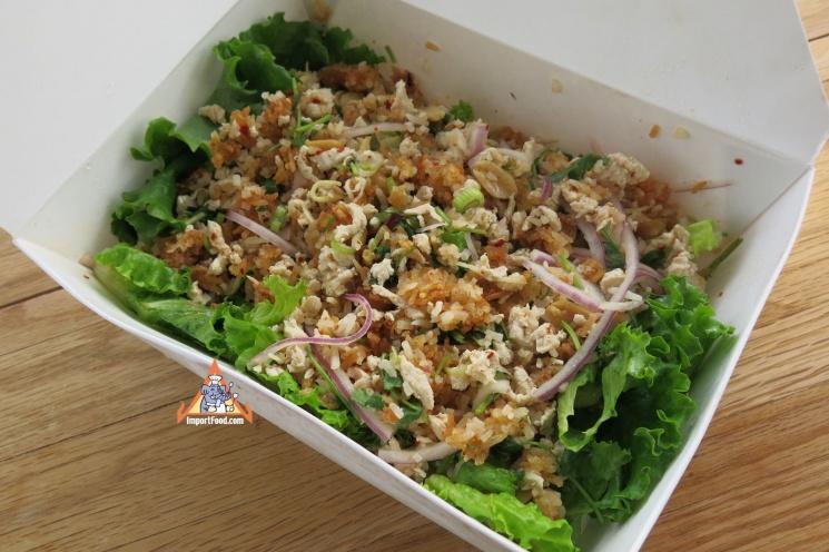 e7ff42e06ed80f954f840fd66cd8421e Recipe Crispy Rice Larb Pork, 'Yum Khao Tod Naem Moo Sod' :: ImportFood