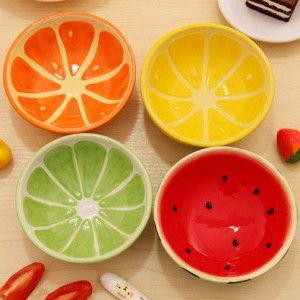 Fruit-colored bowl
