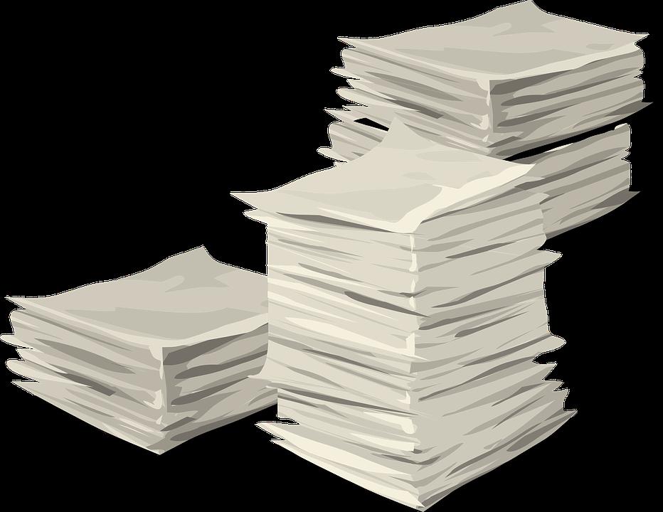 Source: https://pixabay.com/en/papers-stack-heap-documents-576385/