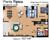 Apartamento Modelo H del piso 21 al 28
