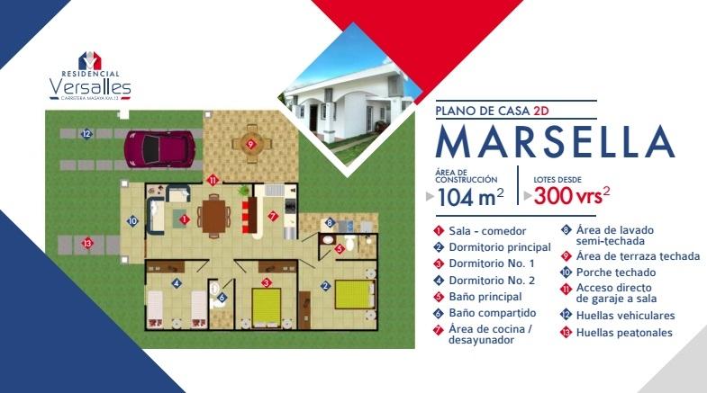 Modelo marsella for Casas en 2d