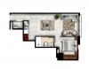 Apartamento de 1 habitación + parqueo