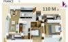 Apartamento 110m2 + 2 parqueos