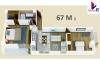 Apartamento 67m2 + 1 parqueo