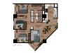 Apartamento de 3 hab con 3 balcones