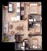 Modelo 3 dormitorios