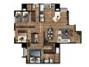 Apartamento 3 hab con 2 balcones.
