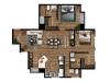 Apartamento 2 hab con dos balcones