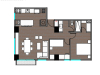 Apartamento de 2 hab con balcón