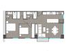 Apartamento de 2 hab con balcon