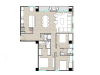 Apartamento 3 hab con balcón