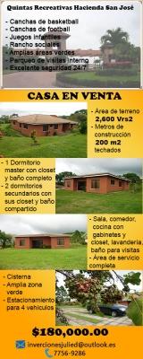 Casa en Condominio Residencial Quintas Recreativas Hacienda San José