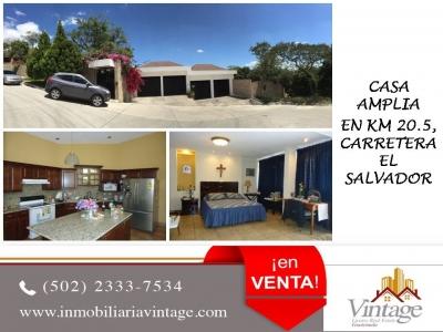 ¡¡¡ VENTA !!! Hermosa casa en Km. 20.5 Carretera a Fraijanes / Inmobiliaria Vintage
