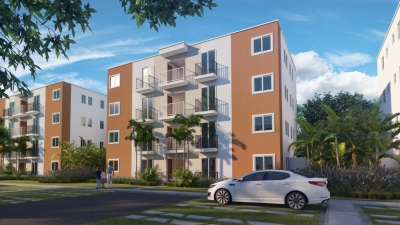 Apartamentos en Proyecto Residencial Privado, 3 Habitaciones, 2 Banos, 1 Parqueos