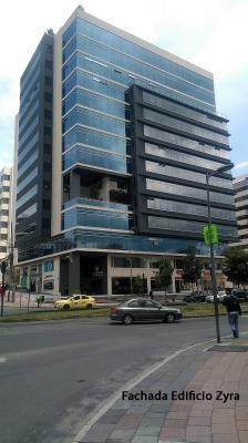 Arriendo oficina, 6 de Diciembre y Portugal, edificio Zyra $600 Inf: 2353232, 0997592747, 0992758548