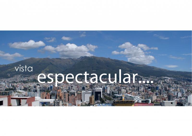 Nuevo y Amplio Departamento de 3 Dormitorios con una espectacular vista a Quito.