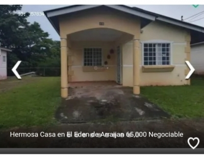 Hermosa Casa El Eden Arraijan 65,000 negociable