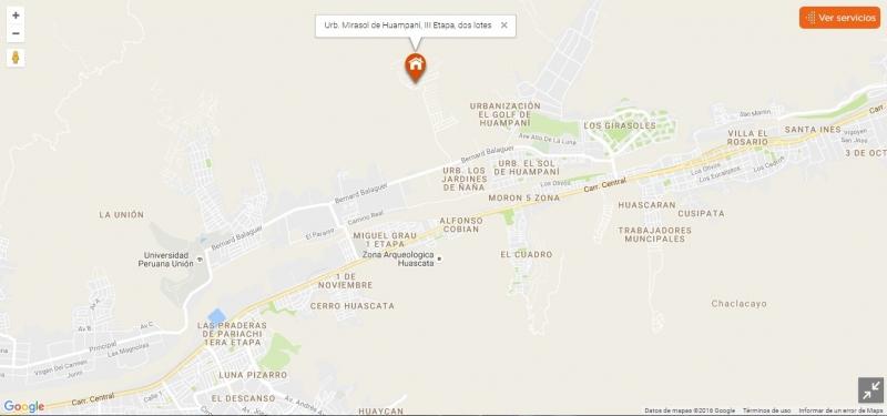 Urb. Mirasol de Huampaní, 3ra Etapa - 2 lotes