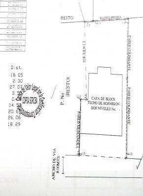 Casa- Solar de 803 m2 en Naco