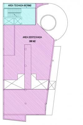 Edificio de 4 niveles y 2,190 m2 construccion - Naco