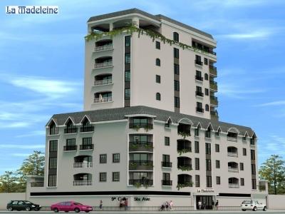 VENTA/RENTA  DE APARTAMENTO, dos dormitorios, 100 mts2 + 2 parqueos en el primer nivel, edificio La Madeleine, zona 10
