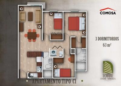 apartamento amueblado en Renta, Torre Entre Arboles, zona 1