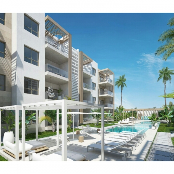 Condo - apartments for sale in Punta Cana - Bávaro; just 50 meters from the beach