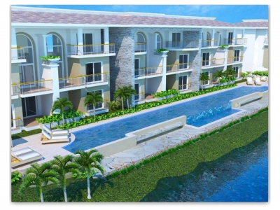 Apartamento de venta en Punta Cana  con campo de golf