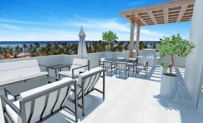 Penthouse en Venta en Punta Cana, de 3 habitaciones, con vista al mar, con terminaciones de lujo a 50 metros de la playa, con plaza comercial, parqueos techados, valet pa