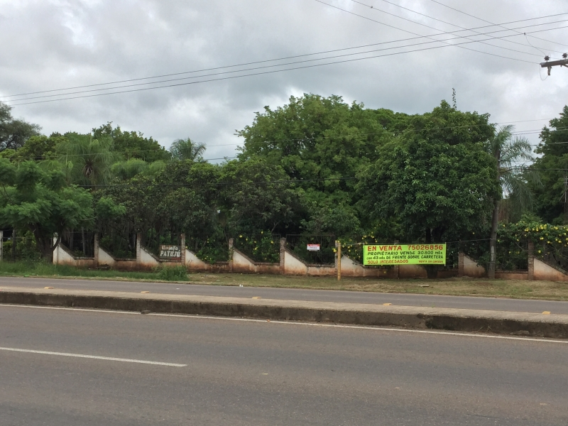 excelente terreno en Venta para quinta o proyecto, sobre carretera a Cotoca
