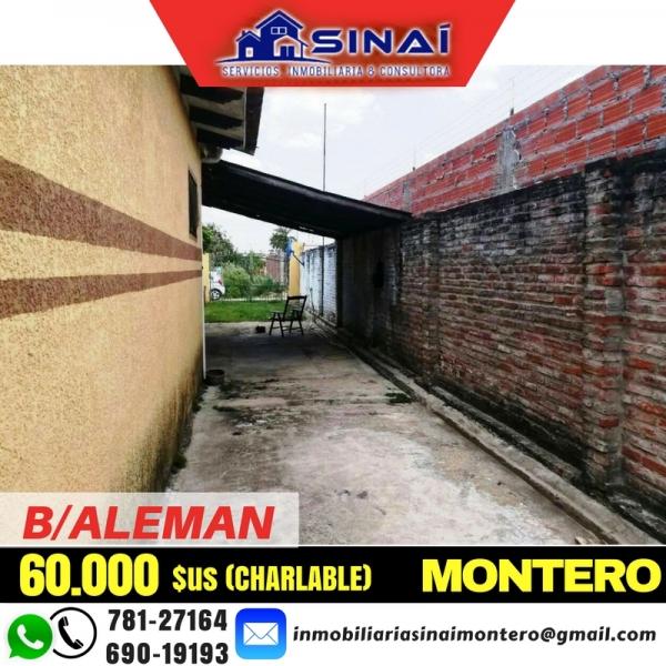 CASA EN VENTA – ZONA B/ALEMAN C/4 KAYANA MONTERO.