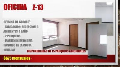 Oficina Tabicada en Alquiler Zona 13